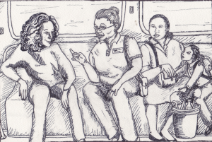 FEATURED ARTWORK: WORKERS IN TRANSIT BY ARIANNA MORALES